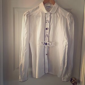 Traditional authentic women's German blouse